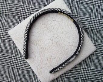 Linen Plaid Headband glen plaid
