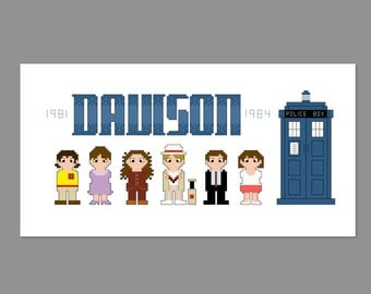 Doctor Who 5th Doctor Pixel People Character Cross Stitch PDF PATTERN ONLY