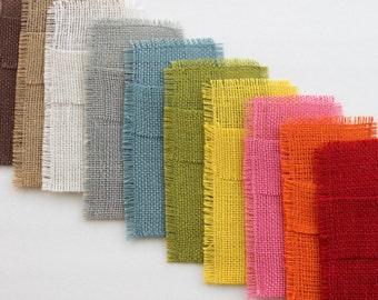 Colored Burlap Silverware Holders