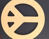 """24"""" Peace Sign made out of 1/2 inch MDF A"""