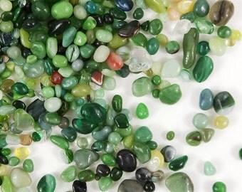 Round Glass pebbles-Polished Pebbles NEW larger bags 1/3 cup over 4 Oz per bag-Terrariums-Vivariums-Wedding-Blues-Purples-greens-oranges