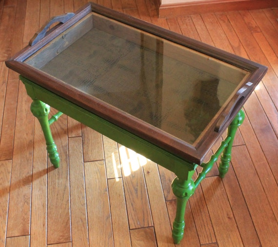Hand Painted Furniture Antique Victorian Tray Table