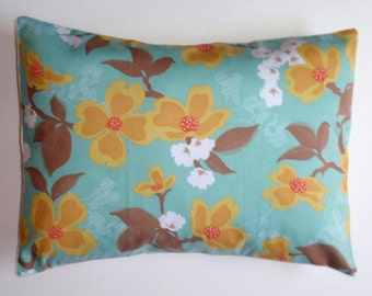"Throw Pillow Cover, Accent Pillow, Decorative Cushion Cover, Blue Floral Pillow Cover, Dogwood Blooms, Joel Dewberry Fabric, 12x16"" Lumbar"