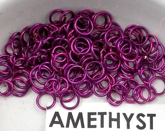 Jump Rings - 18Gauge 5.5 and 5.0 mix Amethyst Colored Copper