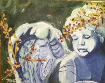 Cupid- 11x14 Original  Acrylic on stretch canvas