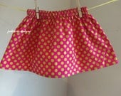 SAMPLE SALE Raspberry dot  Skirt  in  size 3t   Ready to Ship