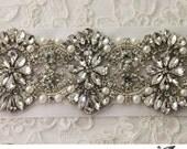 READY TO SHIP - Platinum Wedding Belt, Bridal Sash, Pearl Sash, Rhinestone Sash, Bridal Belt, Wedding Sash, Wedding Dress Sash
