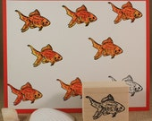 FANTAIL GOLDFISH-Wood Mounted Rubber Stamp (MCRS 24-10)