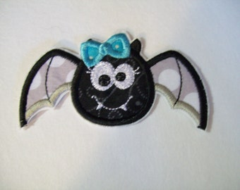 Halloween Girly Bat - Iron On Appliques for Girls