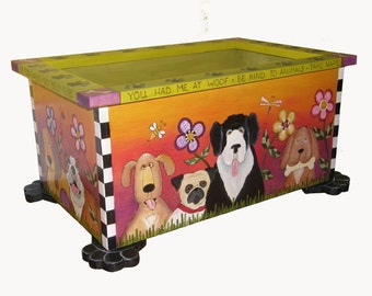 """PET TOY STORAGE - Custom made Pet toy storage - 24"""" wide x 17"""" deep x 12"""" tall - custom sizes available - pet toy box"""