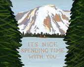 Spending Time with You Card