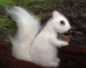 Needle Felted White Squirrel Albino