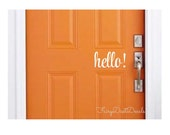 Hello Decal Front Door Greeting Wall Decal Vinyl Lettering Script vinyl letters  Hello wall decal hello vinyl letter front door decoratation