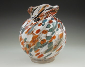 Glass Jar - Glass Blown - Glassblowing - Hand blown Jar - Fused Glass - Keepsake Jar - Home Decor - Trinket Jar - Stash Jar - 721