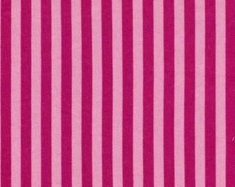 Raspberry Stripe Paris Bebe Fabric 1 yard Discontinued