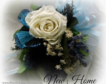 Welcome New Home Dried Flower Tussie Mussie Bouquet Language Of Flowers