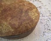 Vintage Italian Leather Gilded Tiny Jewelry Box Gift Box