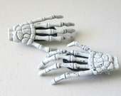 ON SALE Set of Two Skeleton Hand Hair Clips