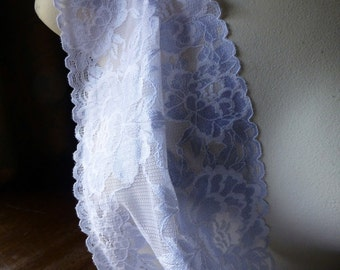 Periwinkle Stretch Lace for Lingerie, Headbands, Waistbands STR 5015