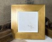 8x8 inch Wide Gold Flat Photo Frame/Golden Wedding/Bridesmaids Gift/Office Desktop/Square Instagram Frame 8x8 inches