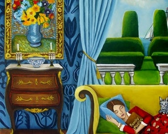 Art Print of a Still Life Painting- Original Painting- Family Photos-by Catherine Nolin