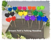 Dream Felt's Deluxe Set 20 Felting Needles Regular, Twisted and Reverse  + Clover Felting Pen 10% OFF