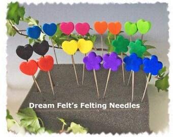 Dream Felt's Super Set of 20 Felting Needles Regular, Twisted and Reverse 20 Needles