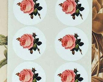Stickers Rose Pink Envelope Seal Wedding Party Favor Treat Bag Sticker SP051