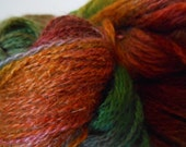 October Leaves Variegated Fingering - Mohair/Merino Blend