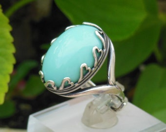 Jade glass heart ring