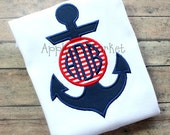 Machine Embroidery Design Applique Anchor Circle 2 INSTANT DOWNLOAD