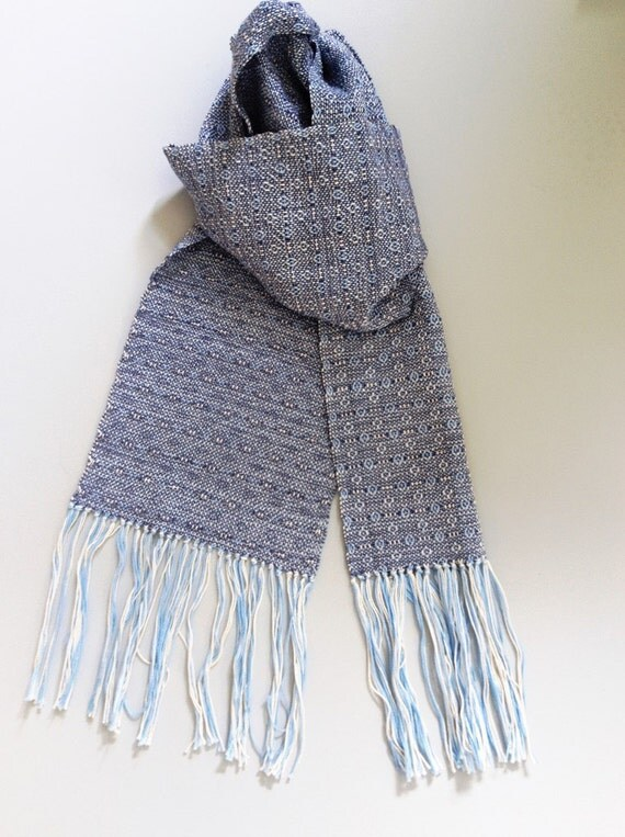 Handwoven Cotton Winter Scarf - Free Shipping in the USA
