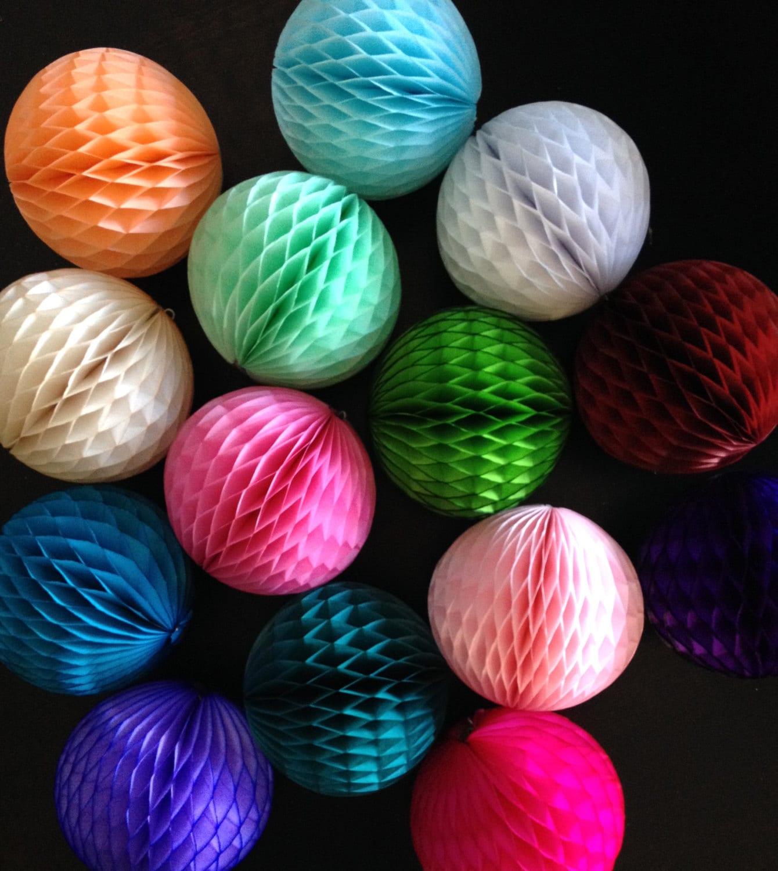 Paper Decoration Balls: HONEYCOMB BALL 5 INCH / Tissue Paper Decorations / Wedding