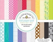 Doodlebug cardstock pad - cardstock pad 6x6 - pattered cardstock - printed cardstock - 6x6 cardstock sheets - color - double sided papers