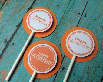 Retirement Cupcake Toppers