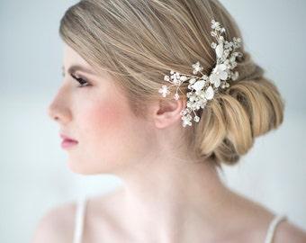 Bridal Hair Comb, Pearl Wedding Hair Comb, Crystal Hair Comb, Wedding Headpiece, Bridal Hairpiece