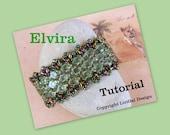Tutorial Elvira  Silky Beads and SuperDuo  Beadwork Bracelet PDF