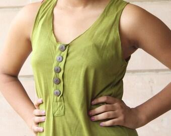 Lime Green Easy Breezy Sleeveless Dress