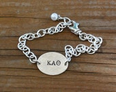 Kappa Alpha Theta Bracelet - Custom Sorority Jewelry, Greek Jewelry, Sorority Graduation Gift, OFFICIALLY Licensed Product