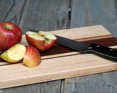Striped Cutting Board maple and black walnut hardwood with FREE wood conditioner