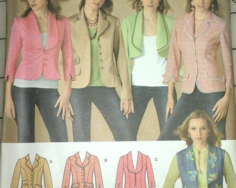 Jacket Weskit Lapel and sleeve options adapt to steam punk styling 14 16 18 20 22 Simplicity 4281