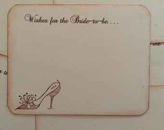 Wishes for the Bride To Be - 30 Bridal Shower Vintage Shoe Wish Cards