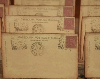 Wedding Place Cards 50 Vintage Italy Post Cards Placecards Escort Cards  Tent Table Place Cards Italian Place Cards
