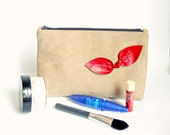 BowBow Leather Makeup Pouch Large