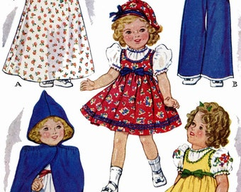 Vintage Doll Clothes PATTERN 525 for 16 inch Shirley Temple Judy Garland Lingerie Lou by Ideal