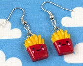 Kawaii Happy Fries Earrings