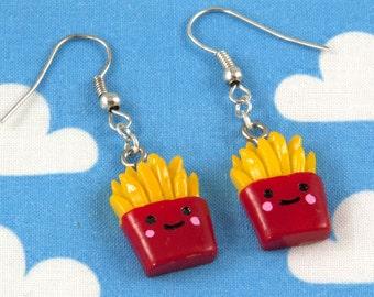Kawaii Happy Fries Earrings
