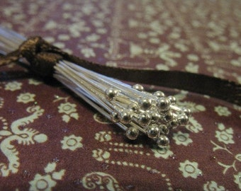Shop Sale..Sterling Silver Headpins Ball Head pins, 26 gauge ga, 100 pcs Bulk, 20 mm, wholesale headpins bali artisan SHP26.20..hp