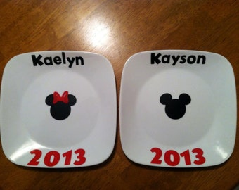 Personalized Disney Signature Plate
