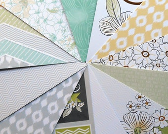 DESTASH - DCWV Quince Blossoms: ZigZag - Pack of 12 Different Scrapbook Papers, 6 inch X 6 inch